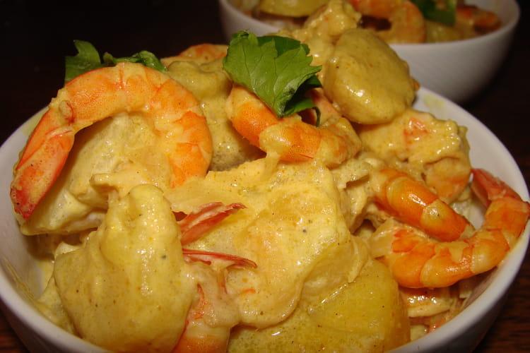 Crevettes à l'ail, citron vert, gingembre et soja