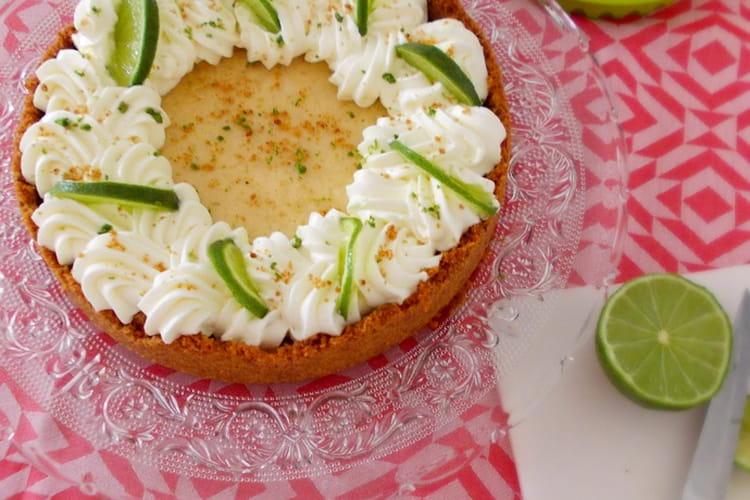 Tarte au citron vert américaine Key lime pie