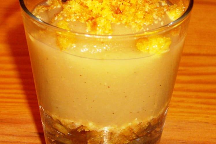 Compote de pommes biscuitée en verrine