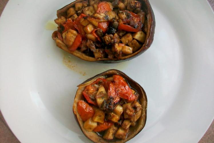 Barquette d'aubergines