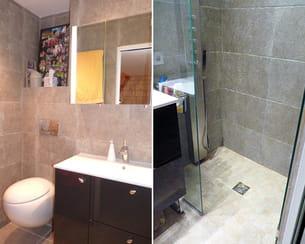 Apr s une salle de bains gain de place - Gain de place salle de bain ...