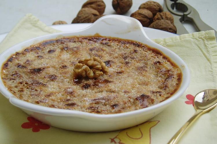 Crème brûlée aux noix