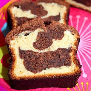 marbré au chocolat noir et blanc