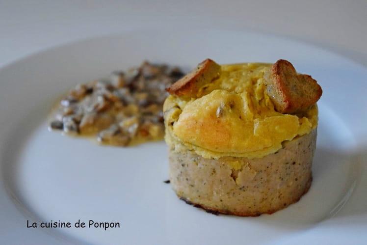 Couronne ardennaise avec boudin de Rethel et fromage de Chaource