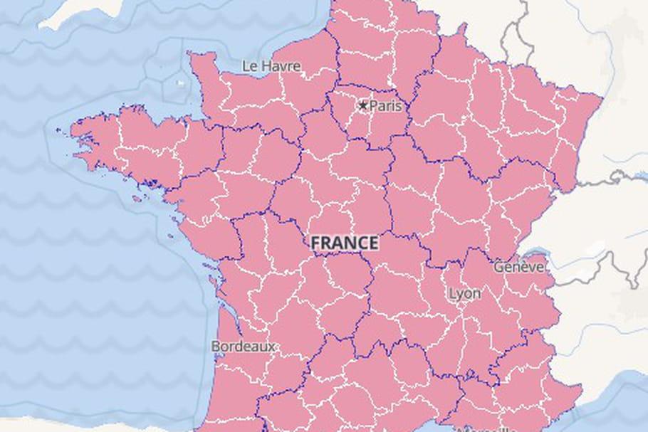 CARTE COVID-19: France, zone rouge, département, décès, Europe