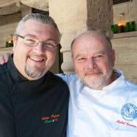 le candidat avec michel trama, chef à l'hôtel restaurant de puymirol.