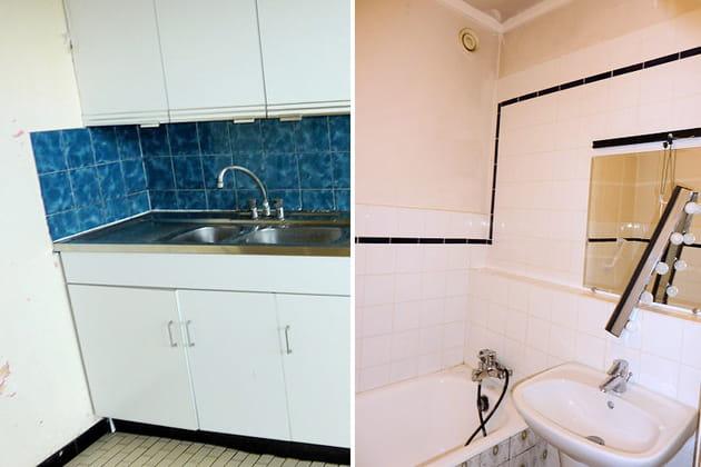 Avant : cuisine et salle de bains