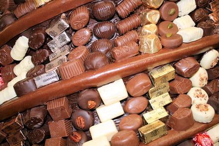 Une colonne de chocolat