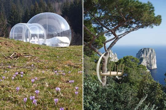 Des maisons-bulle en pleine nature