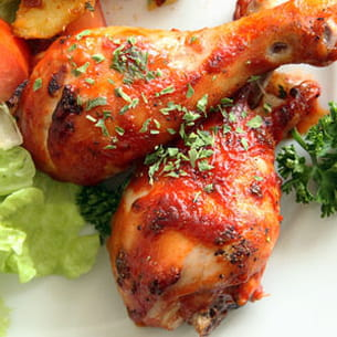 pilons de poulet au ketchup et au piment de cayenne
