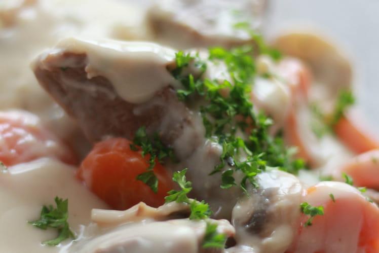 Blanquette de veau, recette rapide et légère