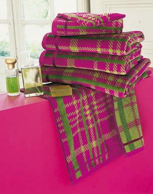 serviettes de bain 'tartan' de linvosges