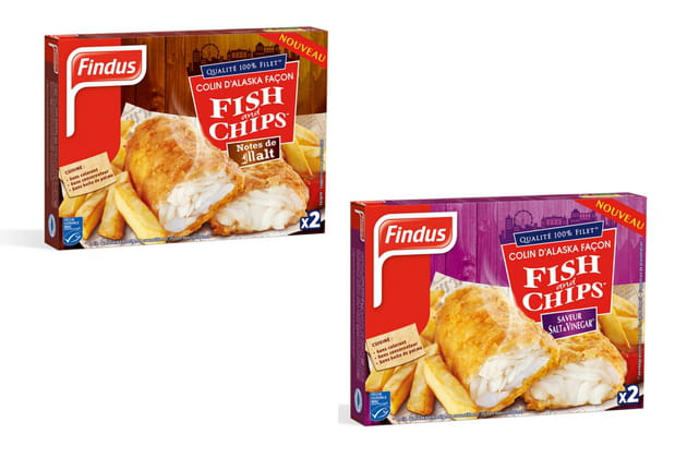 Les fish and chips de Findus