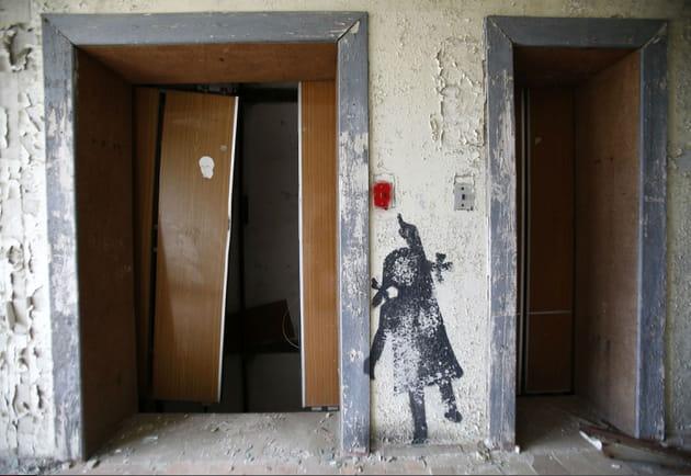 Graffiti dans une maison abandonnée de Prypyat