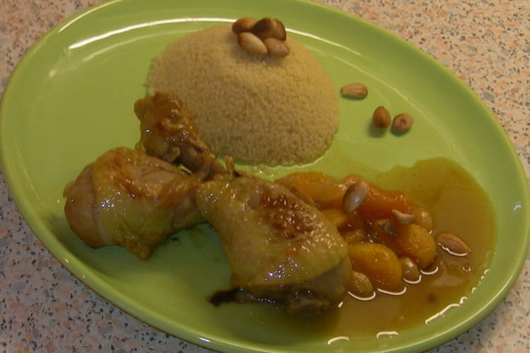 Tajine de poulet aux  fruits secs et au miel
