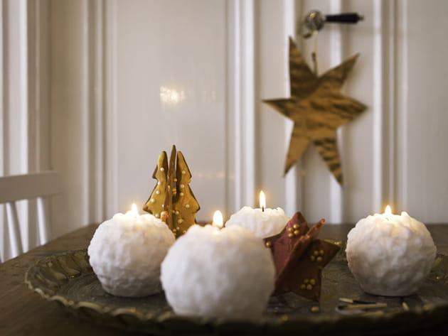Bougie boule de neige IKEA Noël