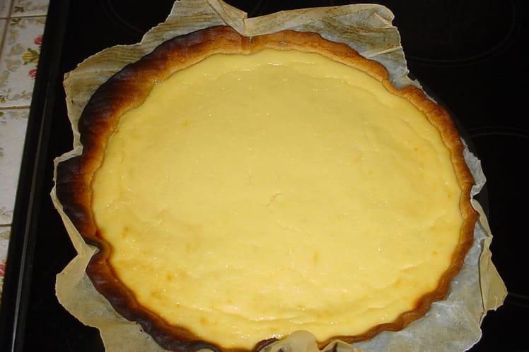 Tarte au fromage blanc citronné