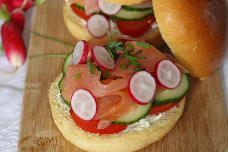 Brioche burger fraîcheur au saumon