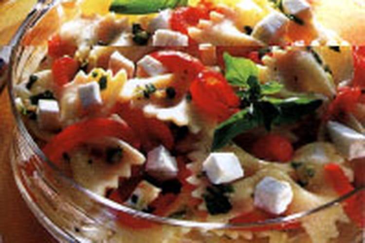 Salade de pâte au chèvre et poivron