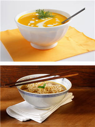 potage légumes ou soupe chinoise.