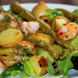 salade tiède terre-mer