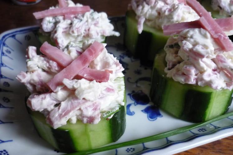 Rondelles de concombre farcies