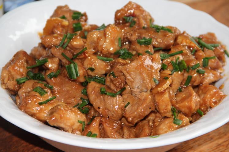 Porc au caramel à la chinoise
