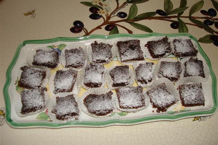 Mini brownies au piment d'Espelette