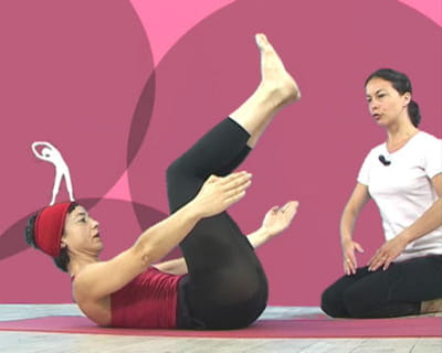 exercice 4 : 'double leg stretch'