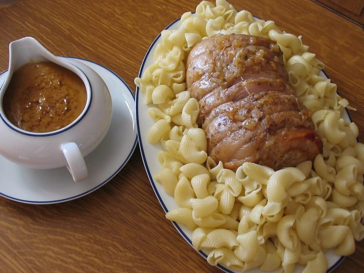 Recette de r ti de porc la bi re la recette facile - Cuisiner roti de porc ...