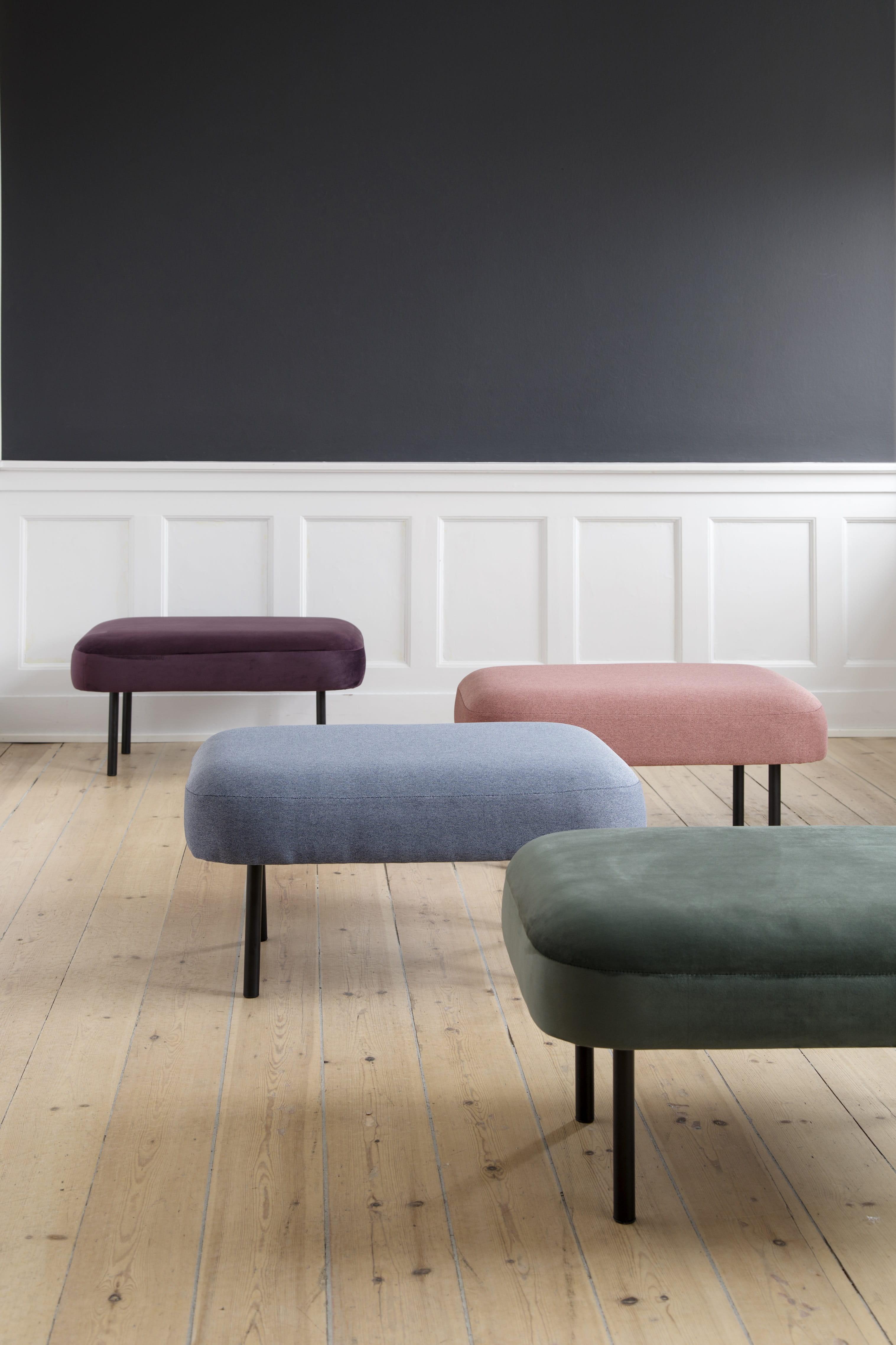 pouf en velours sostrene grene. Black Bedroom Furniture Sets. Home Design Ideas