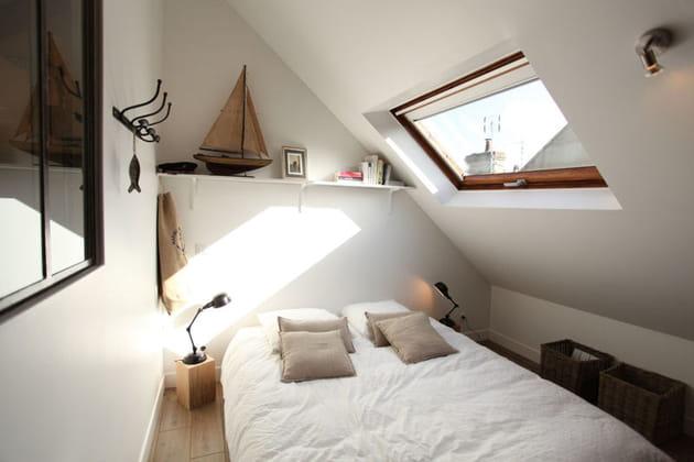 Puits de lumière vers le lit