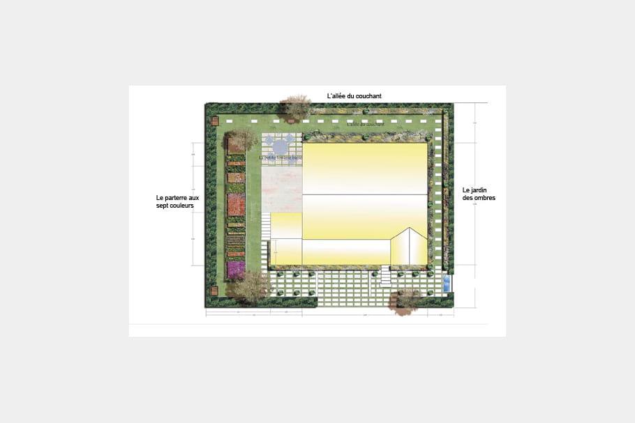 un chemin qui r unit les diff rents espaces un jardin comme une promenade autour de la maison. Black Bedroom Furniture Sets. Home Design Ideas