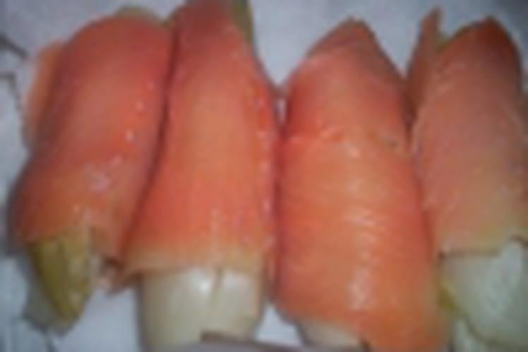 Endives au saumon et au mascarpone
