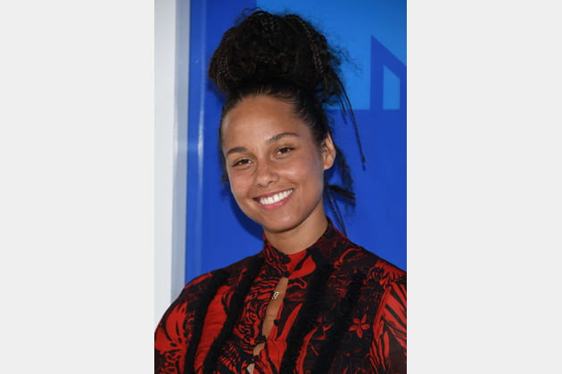 Le no-makeup d'Alicia Keys