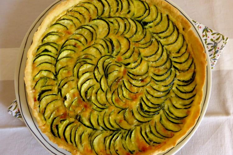Quiche légère aux courgettes et au curry