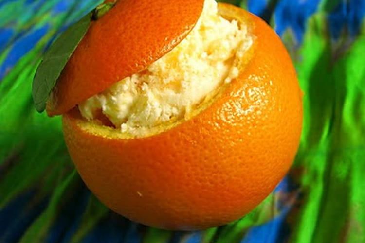 Orange givrée maison (sans sorbetière)