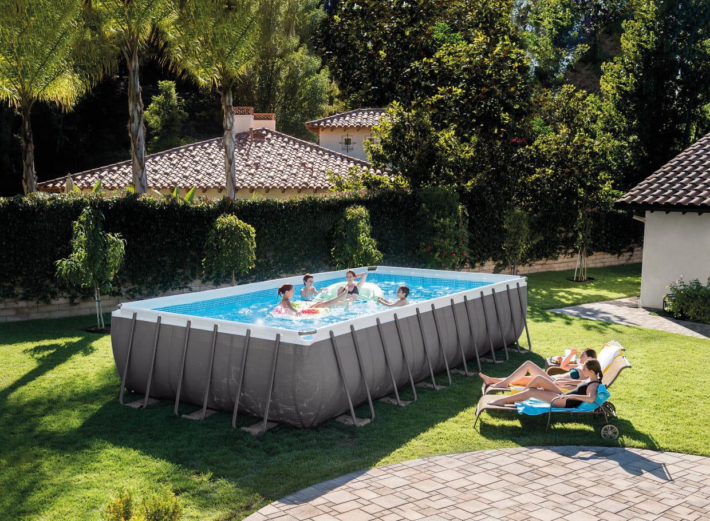 Piscine Tubulaire Terrasse Bois piscine tubulaire ultrasilver par intex