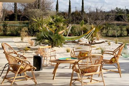 Des meubles de jardin en rotin