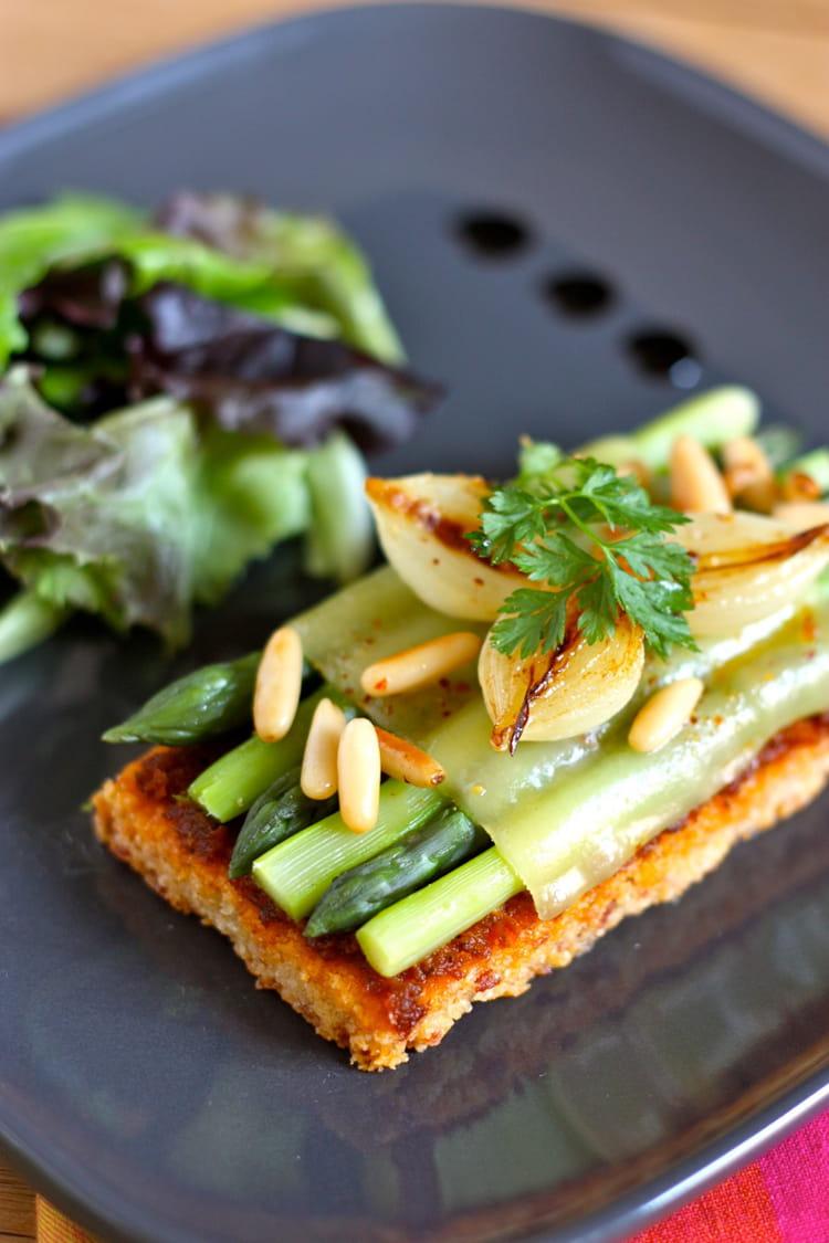 Recette de sabl printanier comt jambon cru et asperges vertes la recette facile - Cuisiner les asperges vertes ...