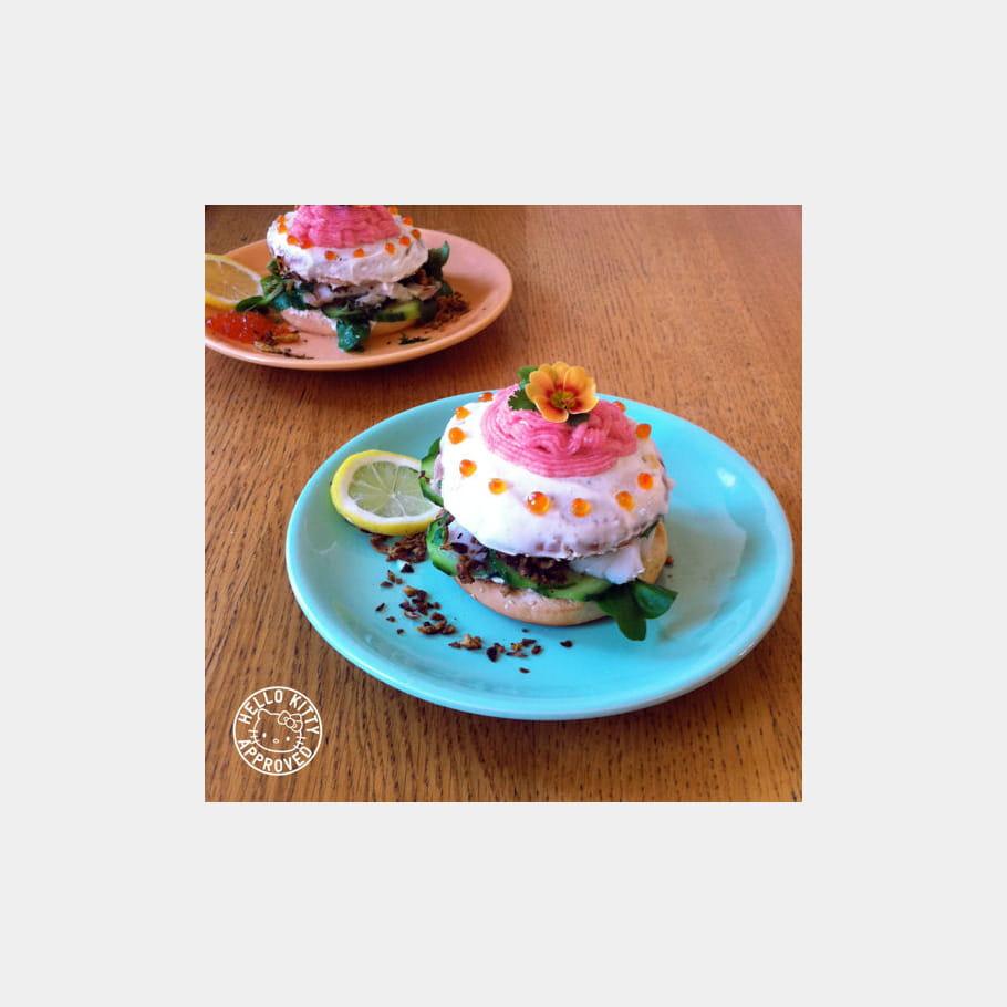 Fabulous Flower Cake Burger