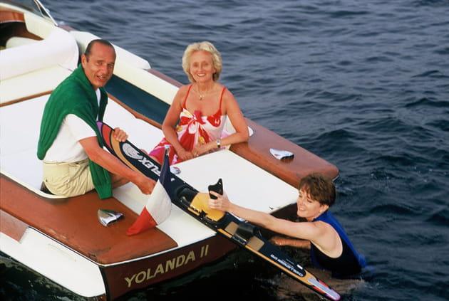 Jacques et Bernadette Chirac, avec leur fille Claude (1987)
