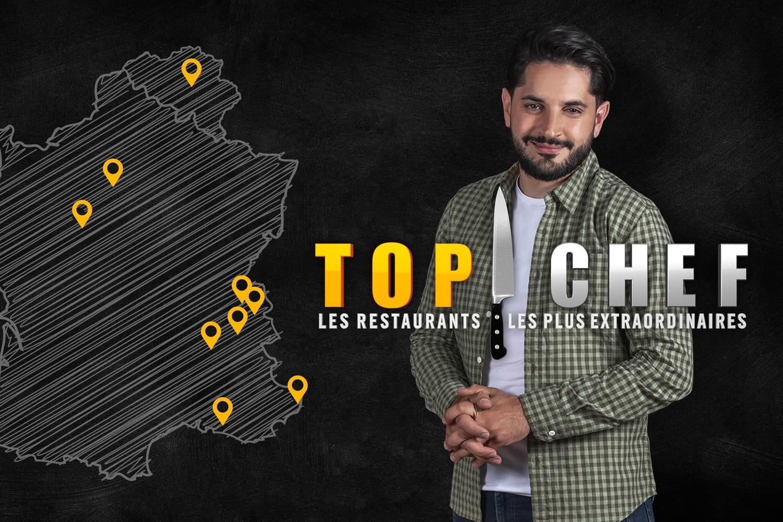"""M6lance """"Top Chef: les restaurants les plus extraordinaires"""" présenté par Merouan"""