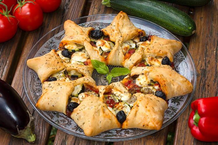 Pizza soleil aux saveurs provençales