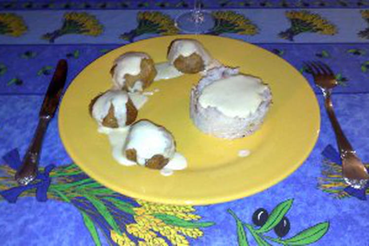 Boulettes maison à la crème citronnée