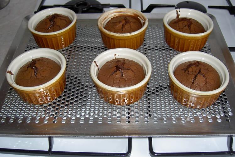 Fondant au chocolat en verrines