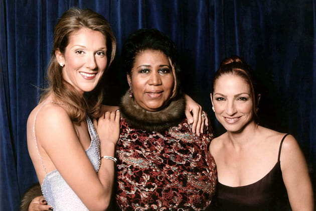 Avec Aretha Franklin et Gloria Estefan