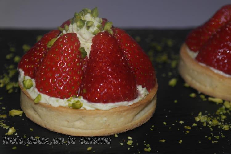 Tartelette fraise-pistache