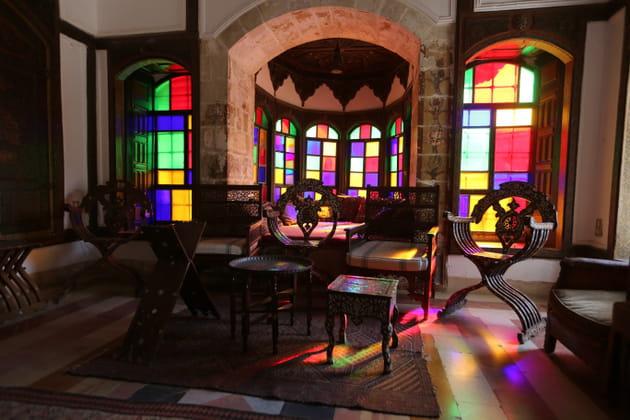 Un des salons du palais de Beiteddine