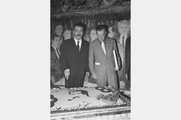 Fête d'anniversaire dans les caves de la Tour Eiffel, 1963